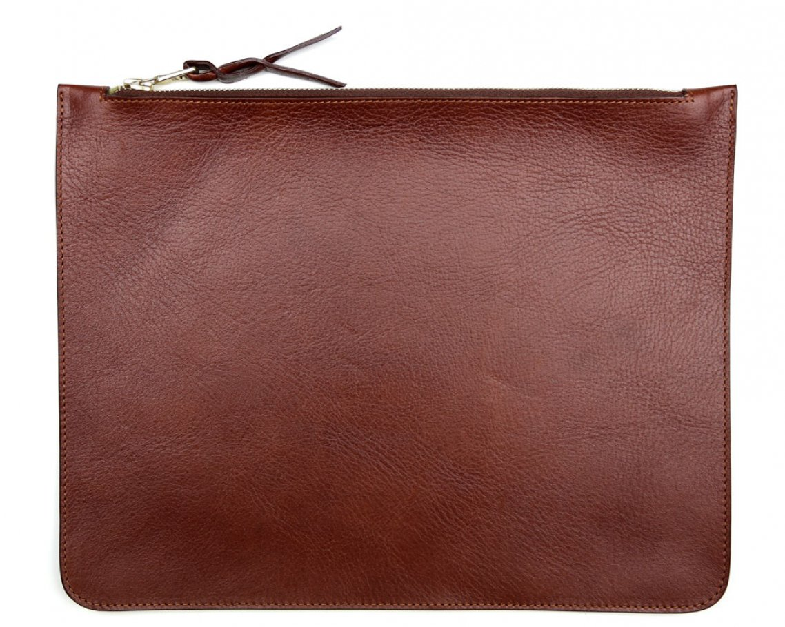 Large Chestnut Zipper Pouch Made In Usa Frank Clegg 1
