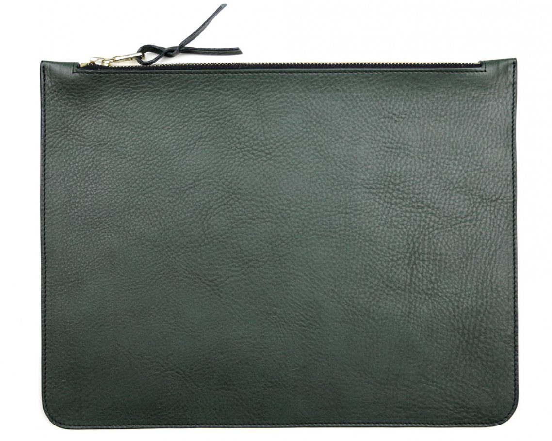 Large Green Zipper Pouch Made In Usa Frank Clegg 1