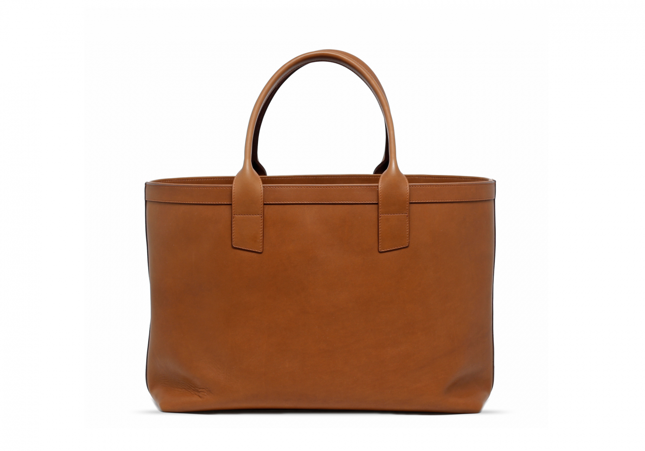 Large Leather Tote Bag Light Tabacoo1