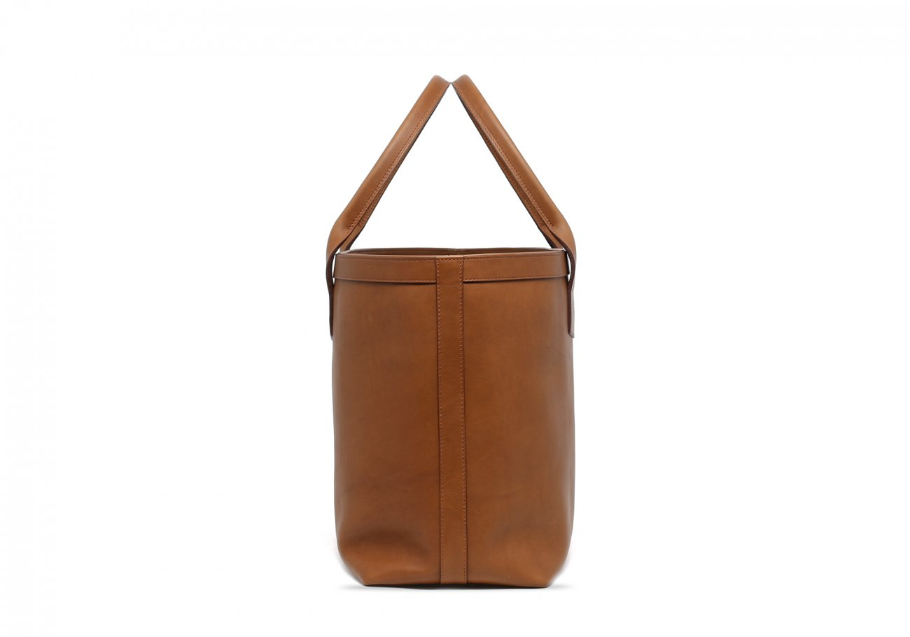 Large Leather Tote Bag Light Tabacoo3