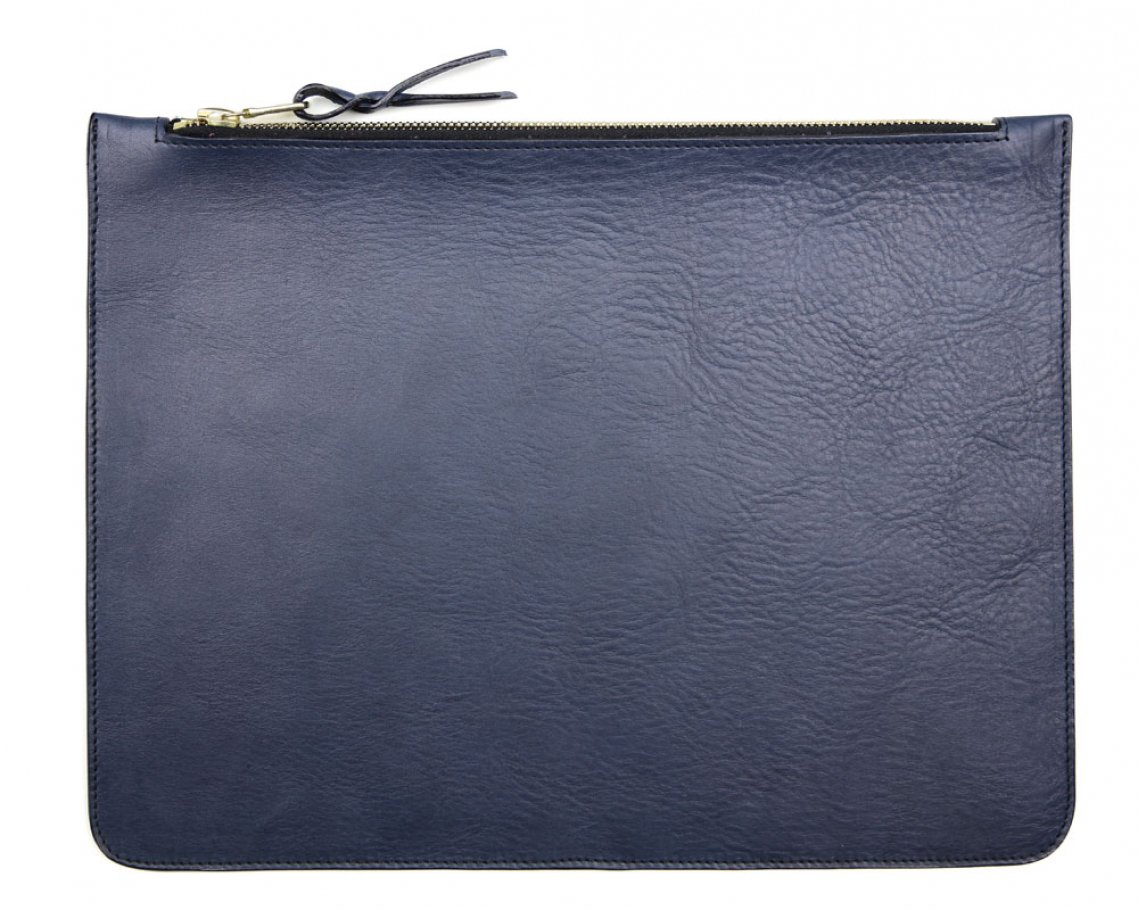 Large Navy Zipper Pouch Made In Usa Frank Clegg 1