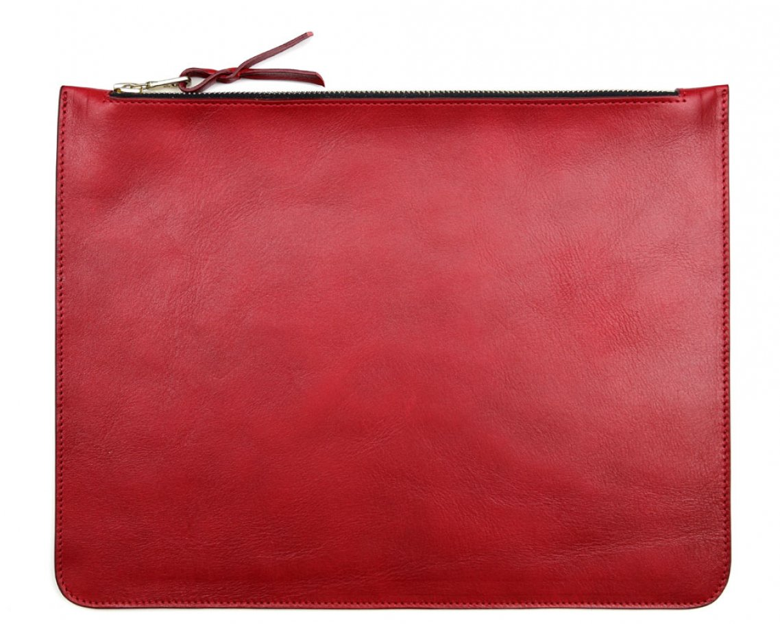 Large Red Zipper Pouch Made In Usa Frank Clegg 1