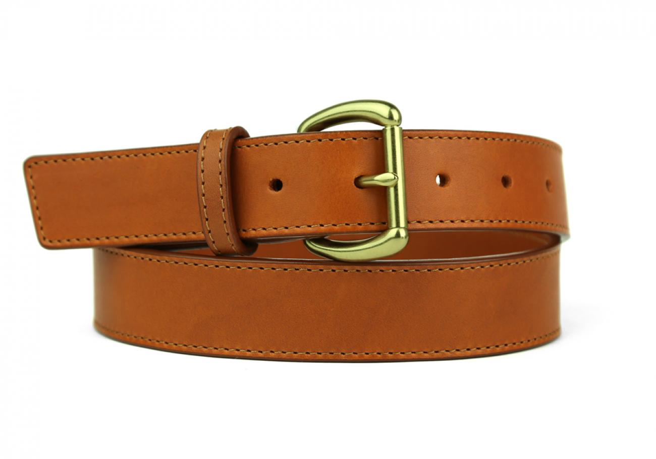 Leather Belt Handmade In Usa Frank Clegg Cognac 6