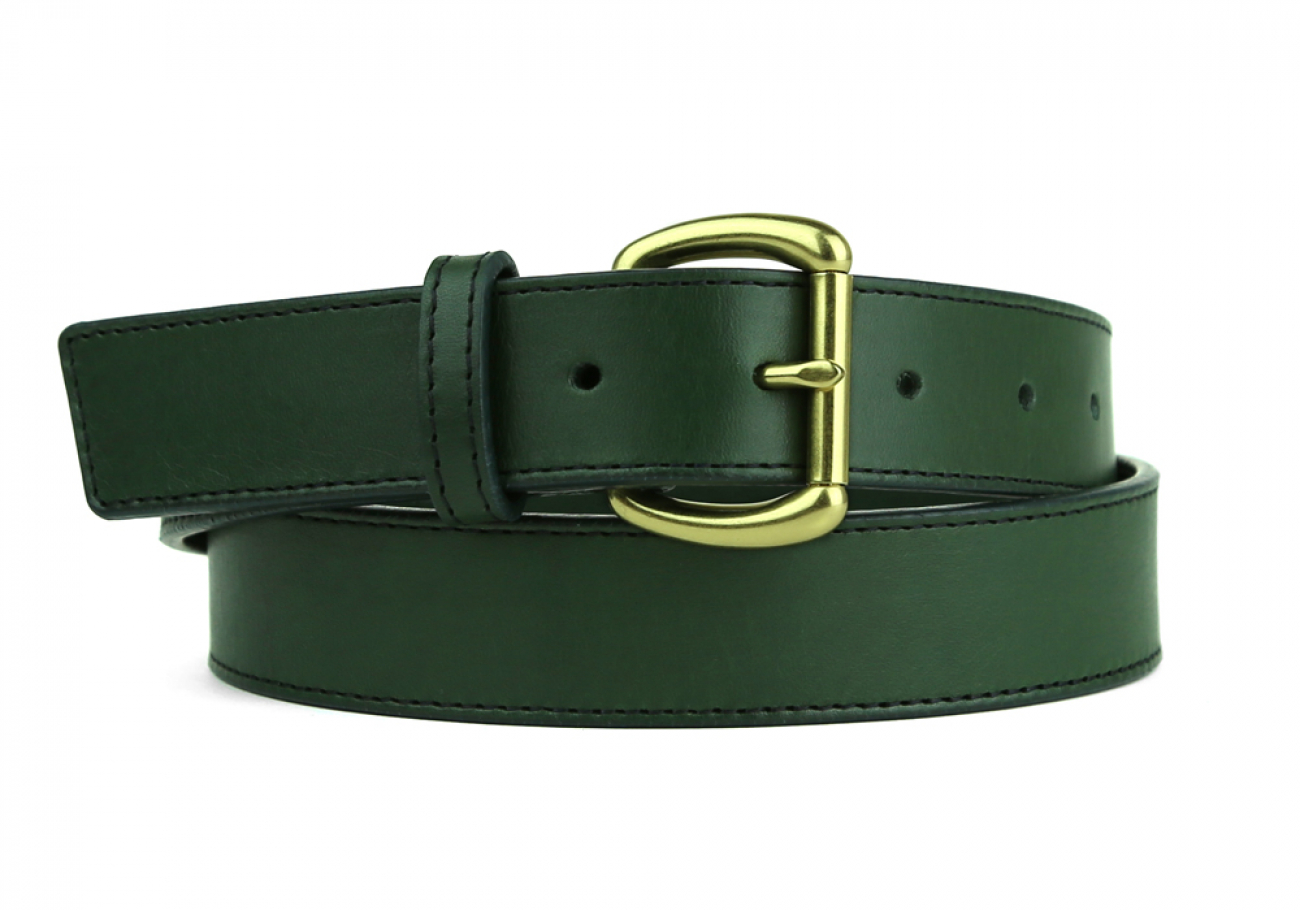 Leather Belt Handmade In Usa Frank Clegg Green 5