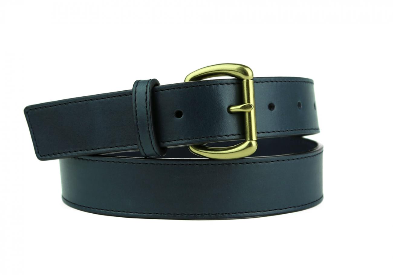 Leather Belt Handmade In Usa Frank Clegg Navy 10