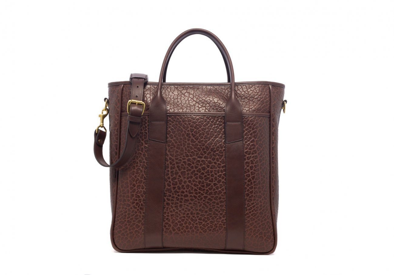 Leather Commuter Tote Chocolate Shrunken Frank Clegg 4 1 1