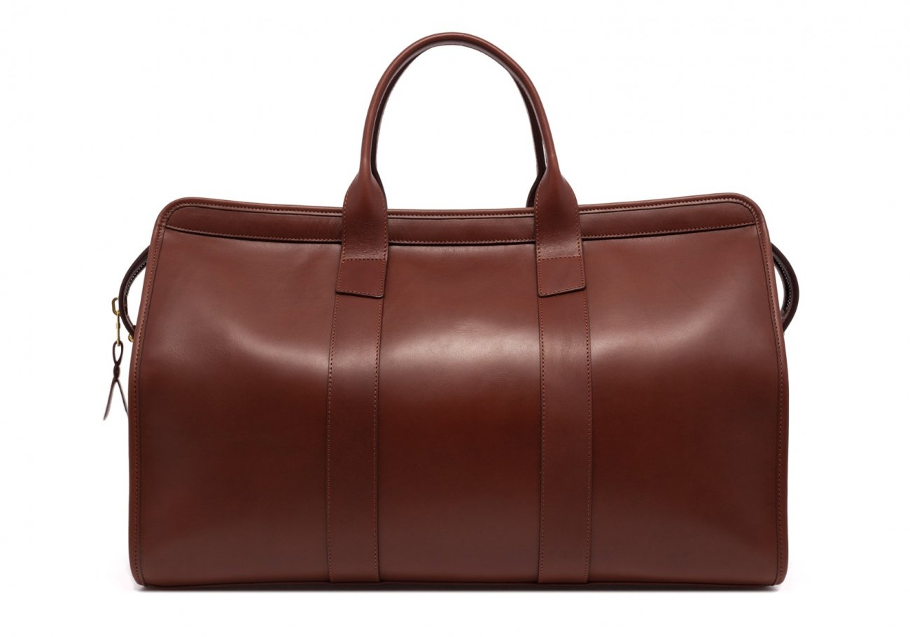Leather Duffle Bag Harness Chestnut Leather 2