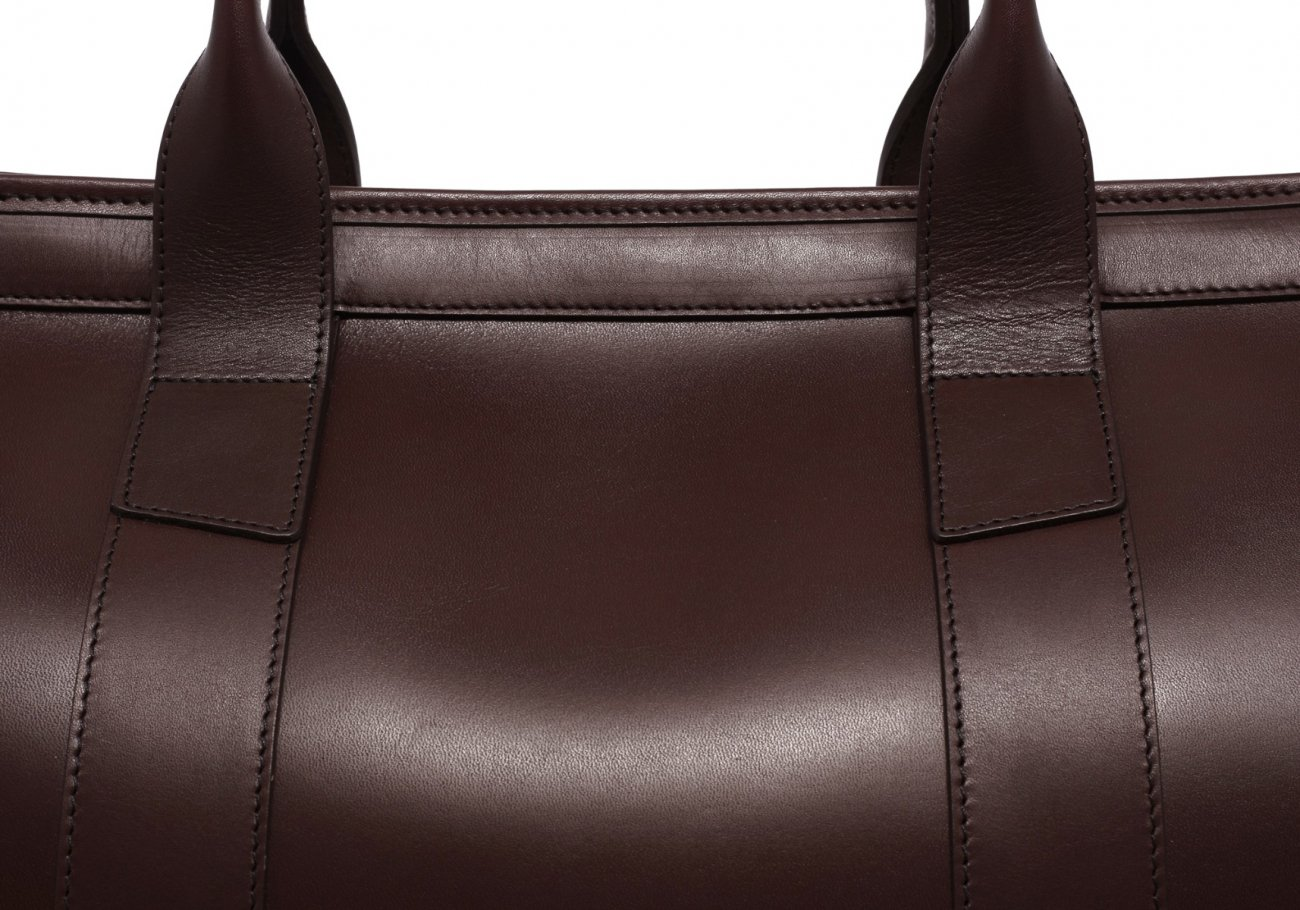 Leather Duffle Bag Harness Chocolate Leather 5 1