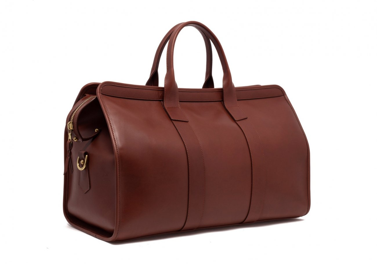 Leather Duffle Bag Tumbled Chestnut Leather 3