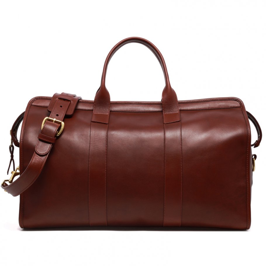 Leather Duffle Bag Tumbled Chestnut Leather Final