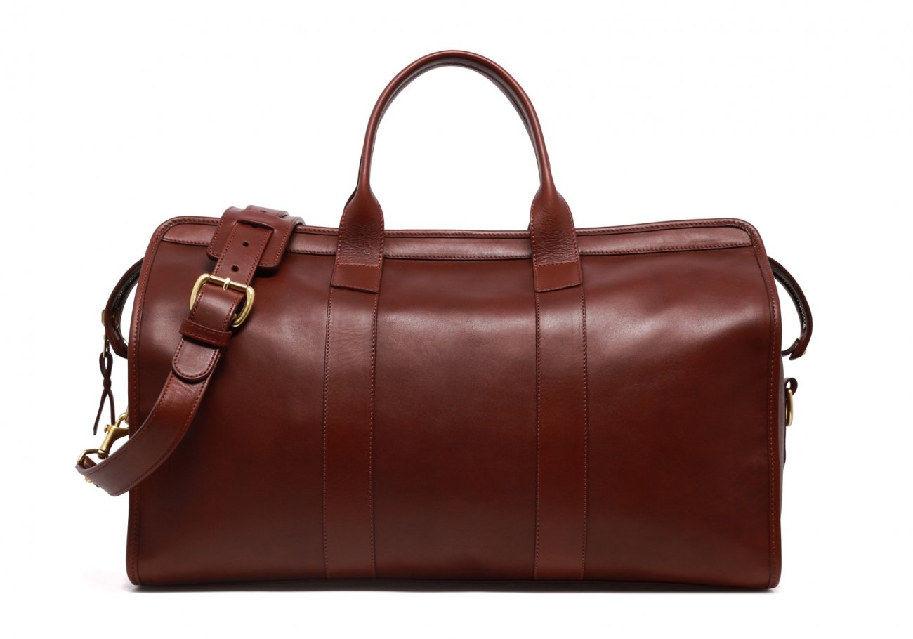 Leather Duffle Bag Tumbled Chestnut Leather N1 1