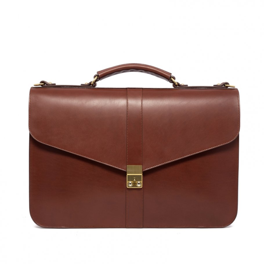 Leather Lock Briefcase Made In Usa