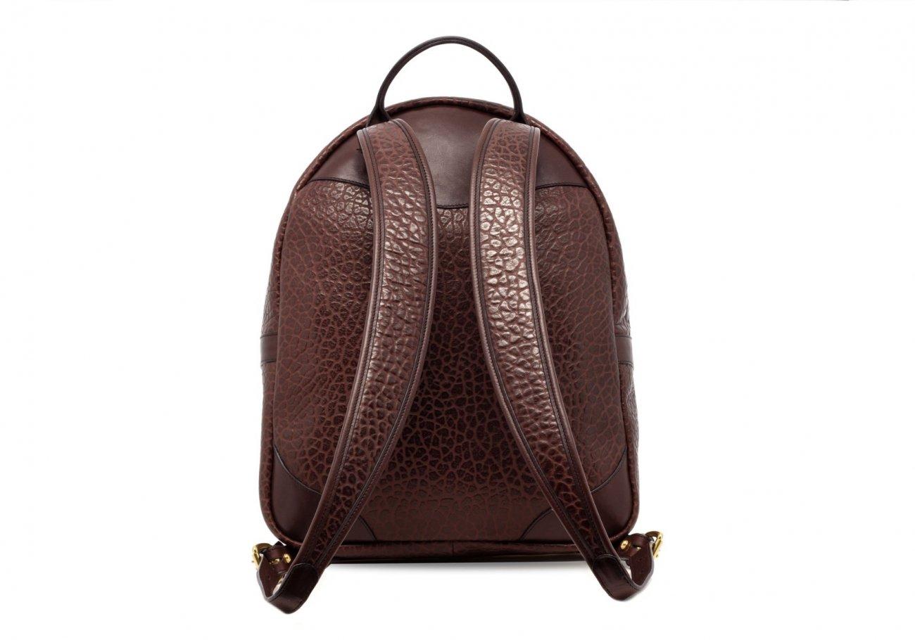 Leather Zipper Backpack Shrunken Chocolate3