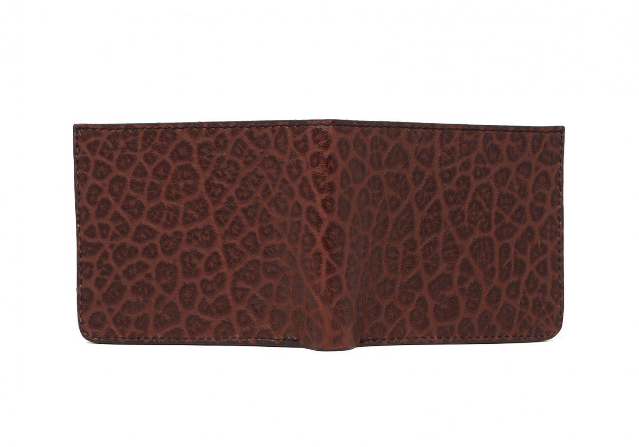 Leather Bifold Wallet Shrunken Grain Chocolate4