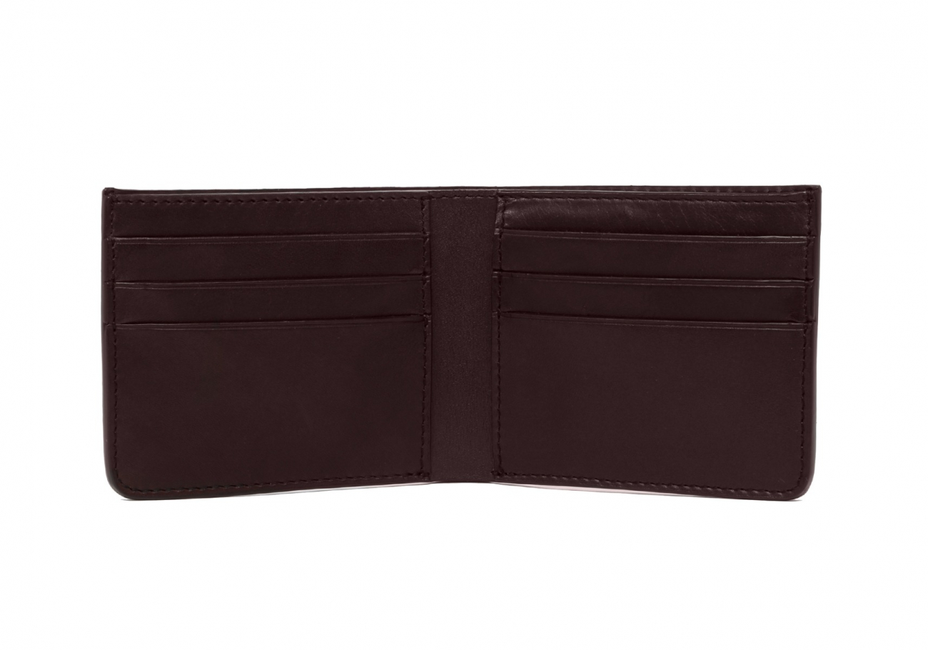 Leather Bifold Wallet Shrunken Grain Chocolate5