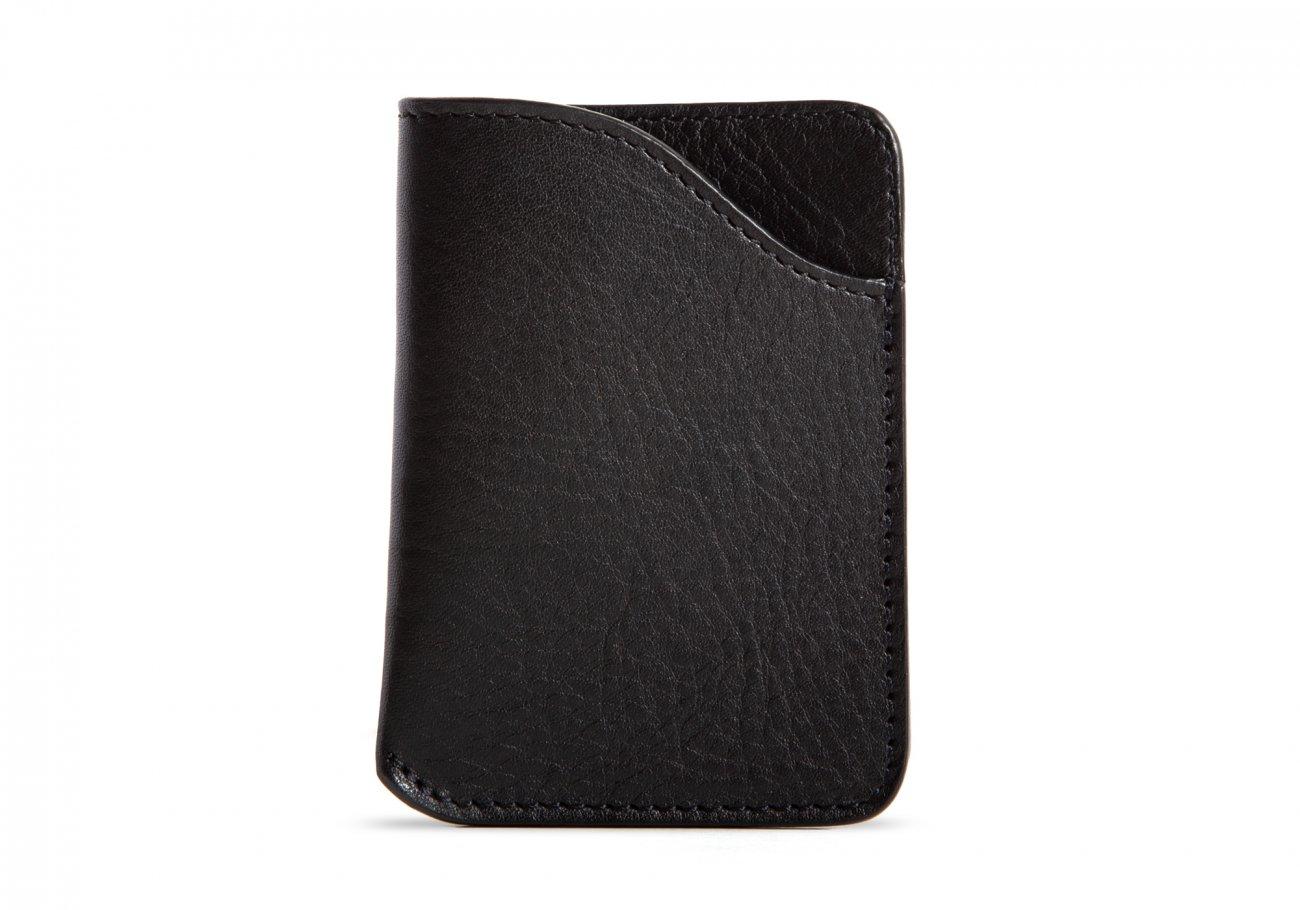 Leather Card Wallet Black3