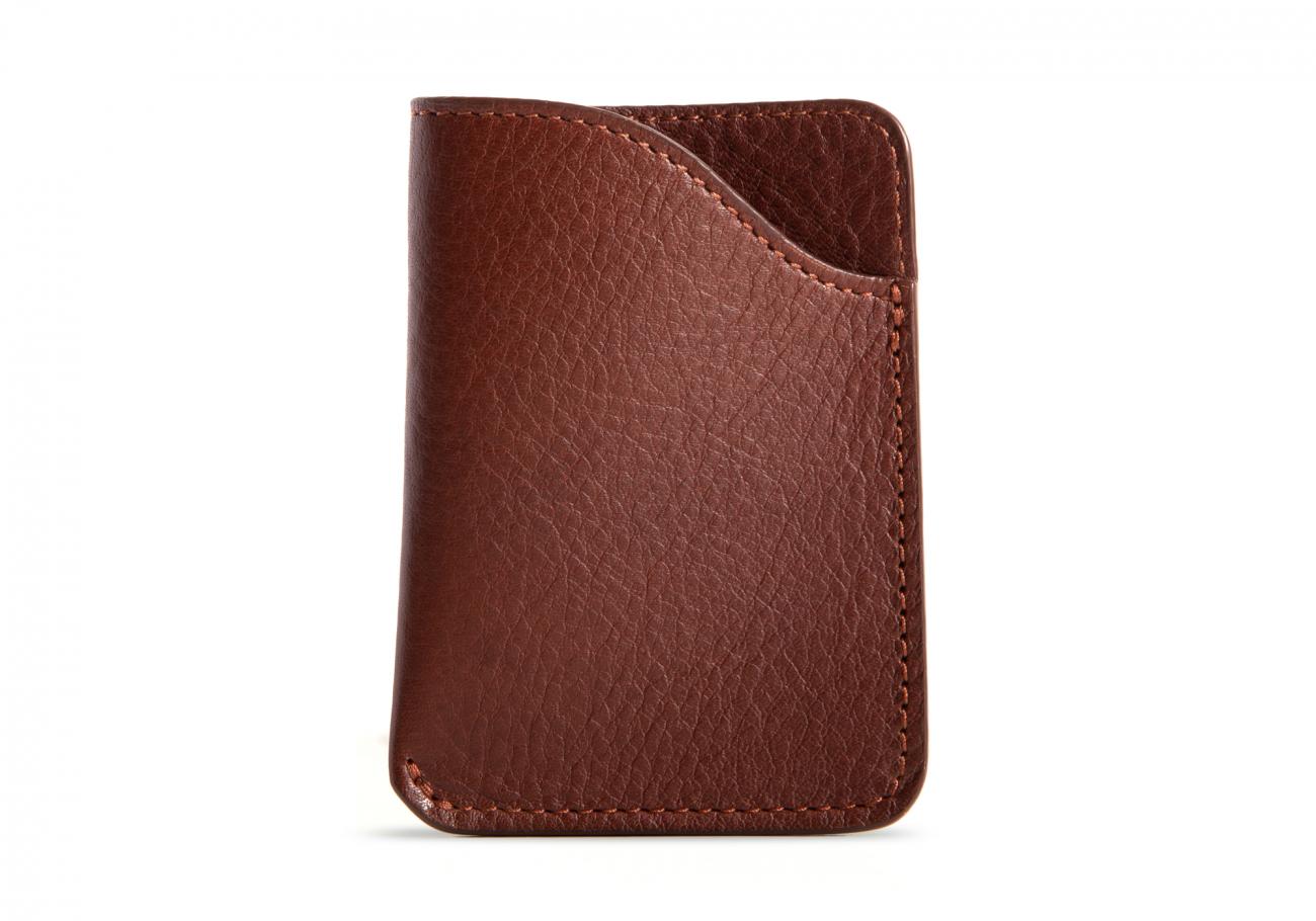 Leather Card Wallet Chestnut3