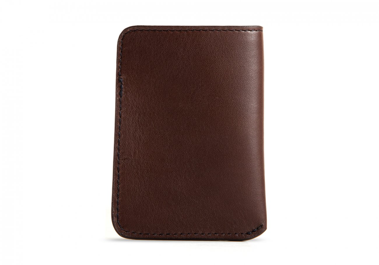 Leather Card Wallet Chocolate2