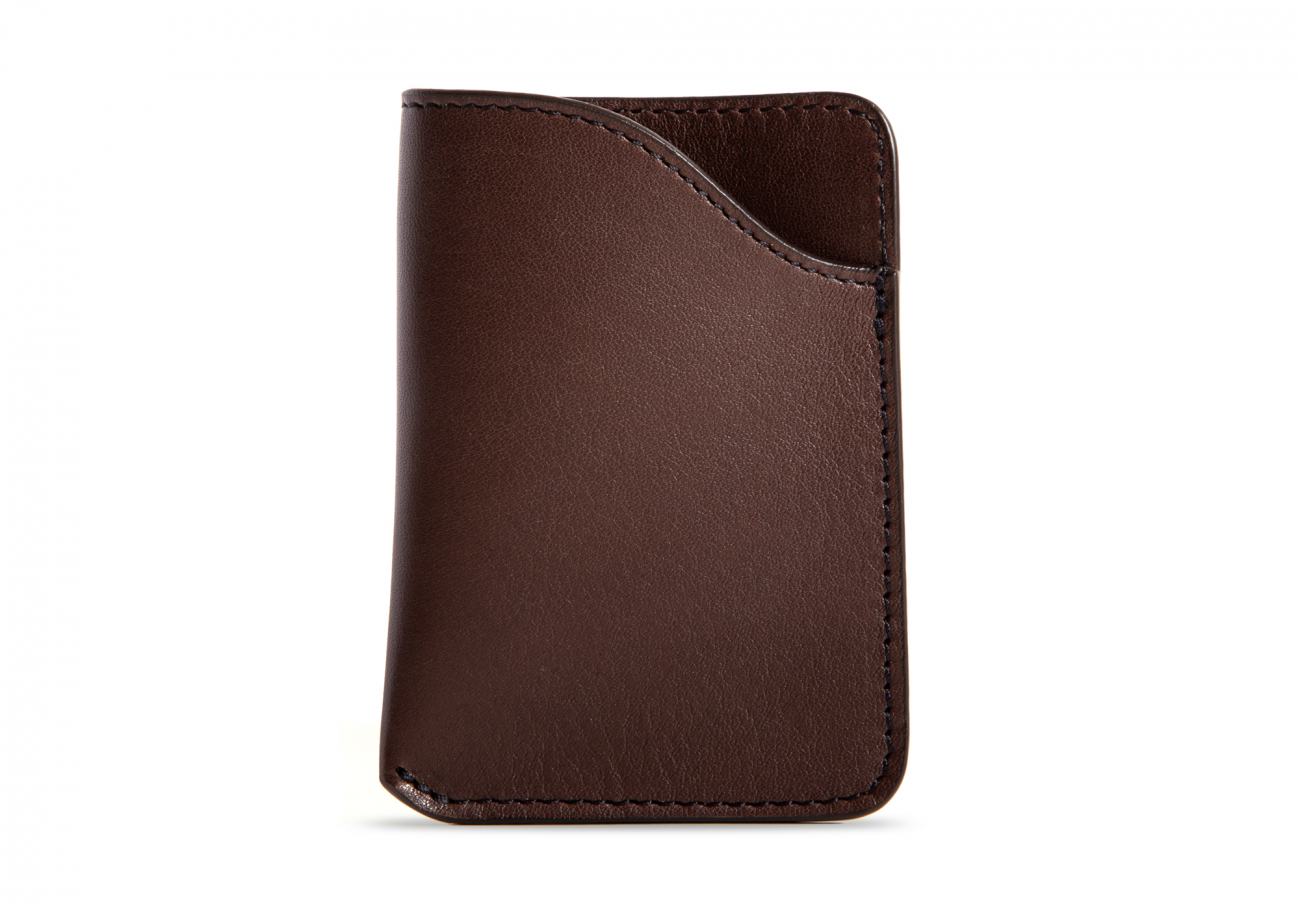 Leather Card Wallet Chocolate3