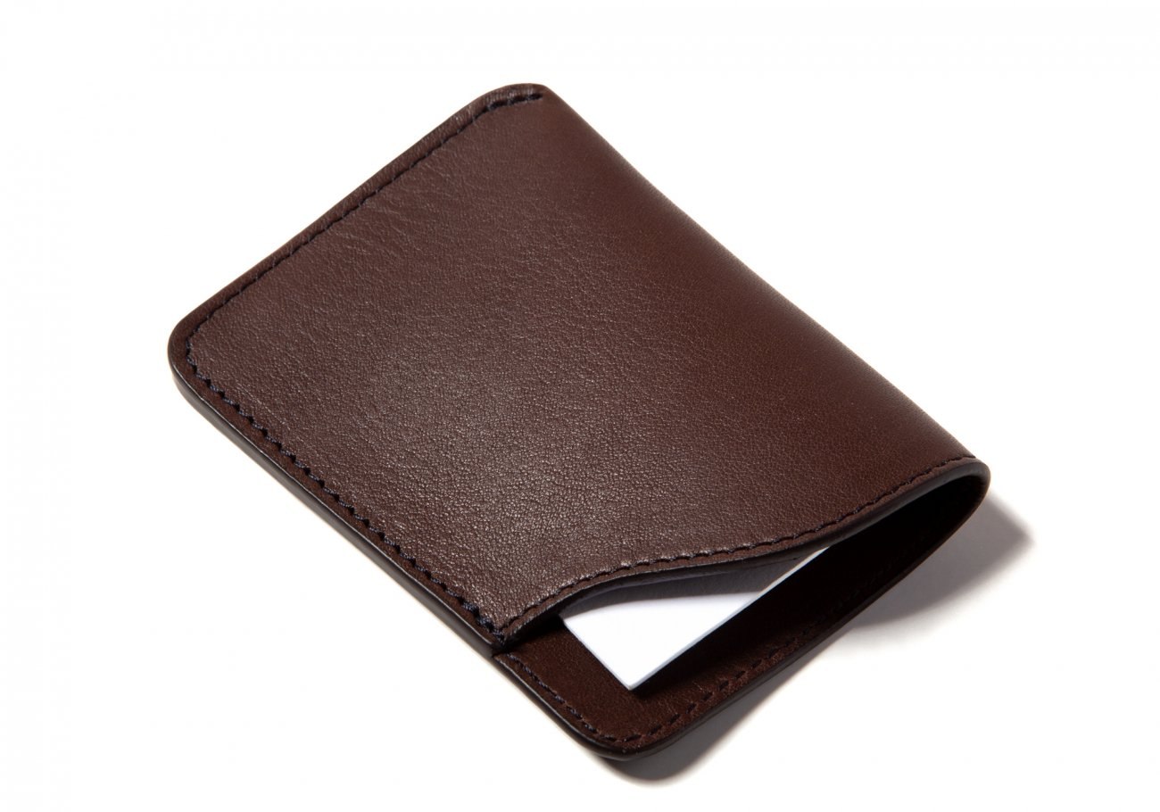 Leather Card Wallet Chocolate4