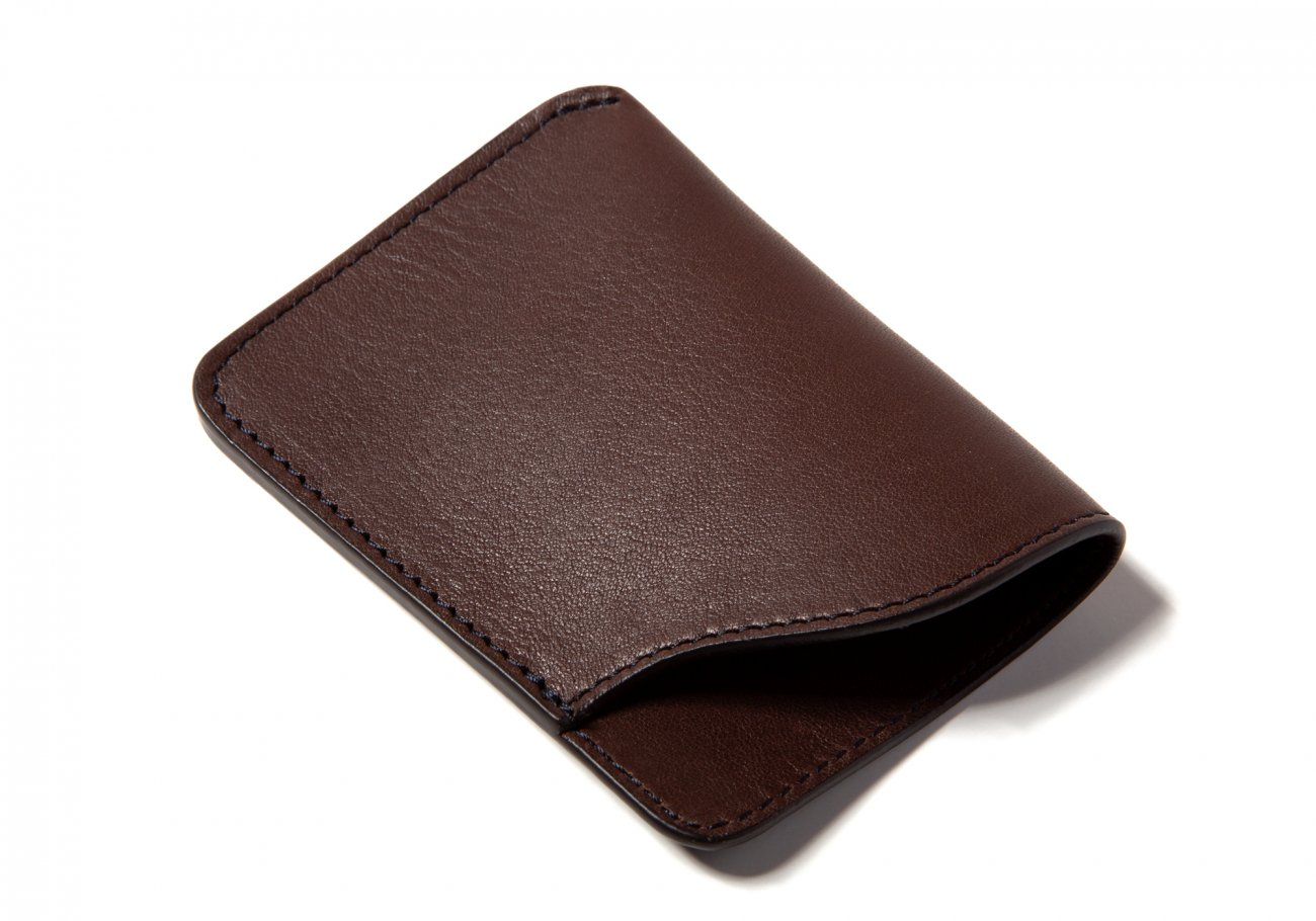 Leather Card Wallet Chocolate5