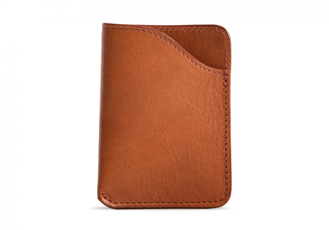 Leather Card Wallet Cognac3