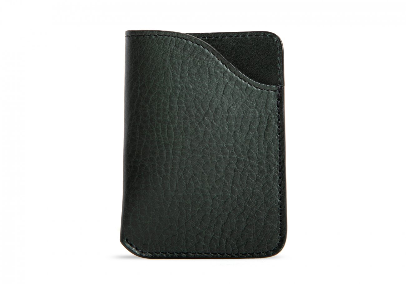 Leather Card Wallet Green3