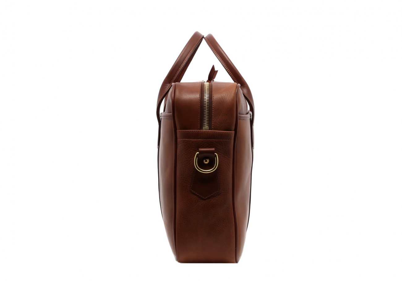 Leather Commuter Briefcase Walnut Leather4