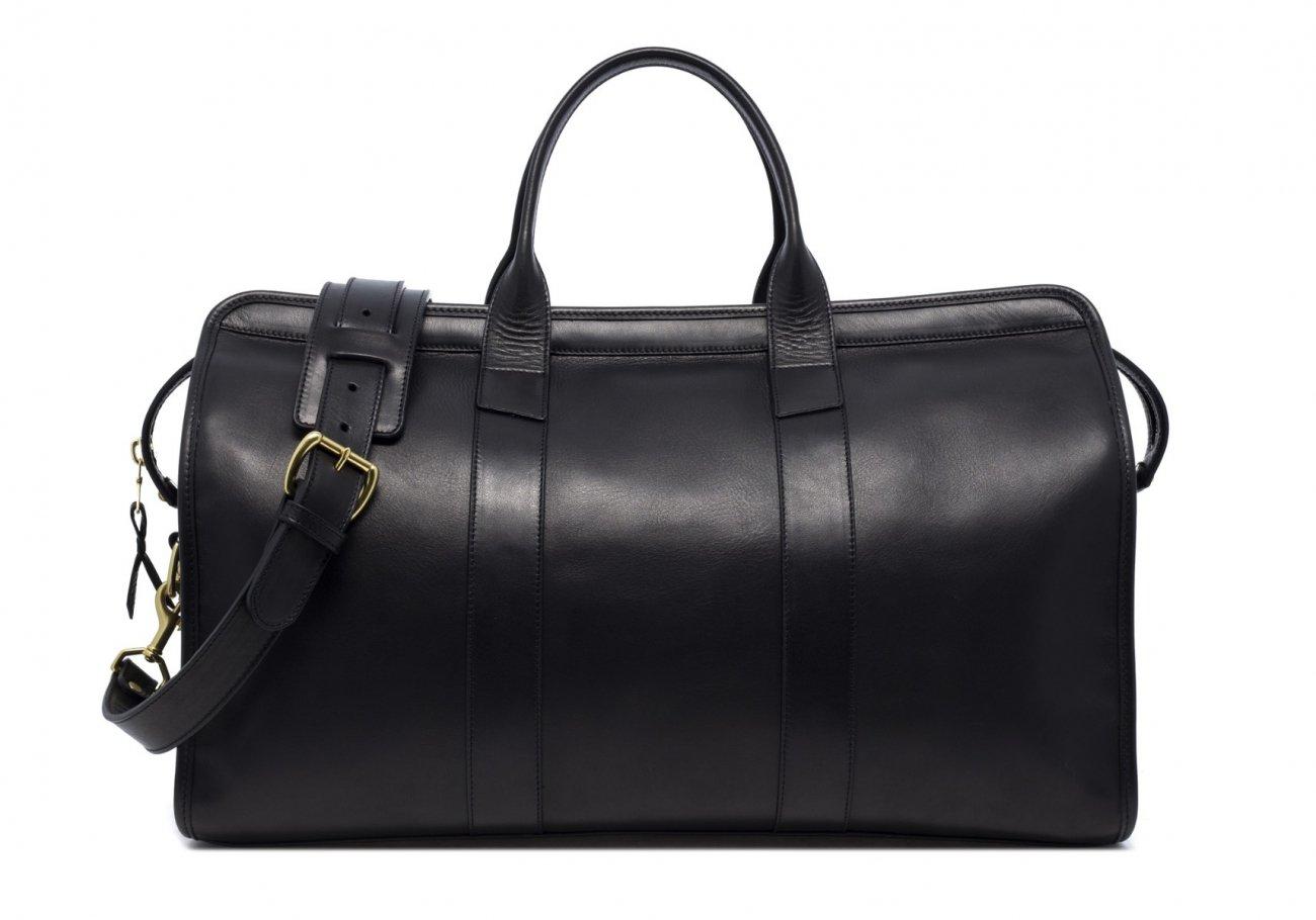 Leather Duffle Bag Black Tumbled1 1