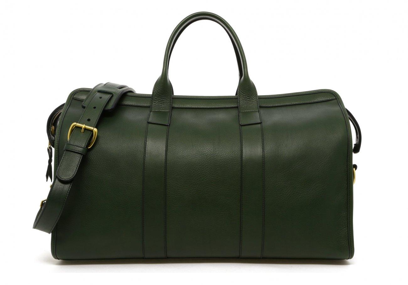 Leather Duffle Bag Green Tumbled Leather Frank Clegg1