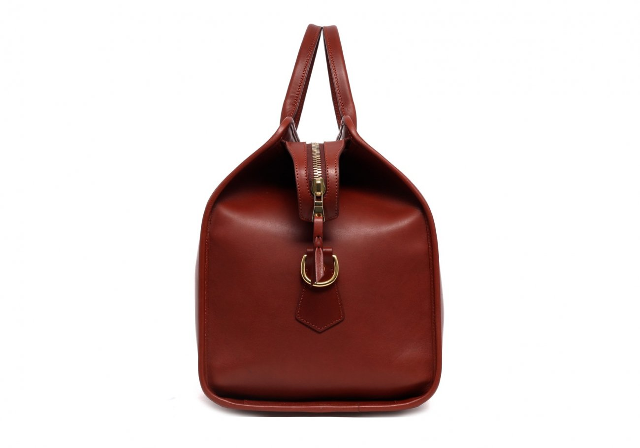 Leather Duffle Bag Harness Chestnut Leather 4 1