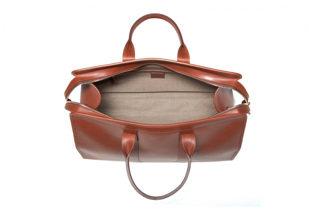 Leather Duffle Bag Harness Chestnut Leather 6 1