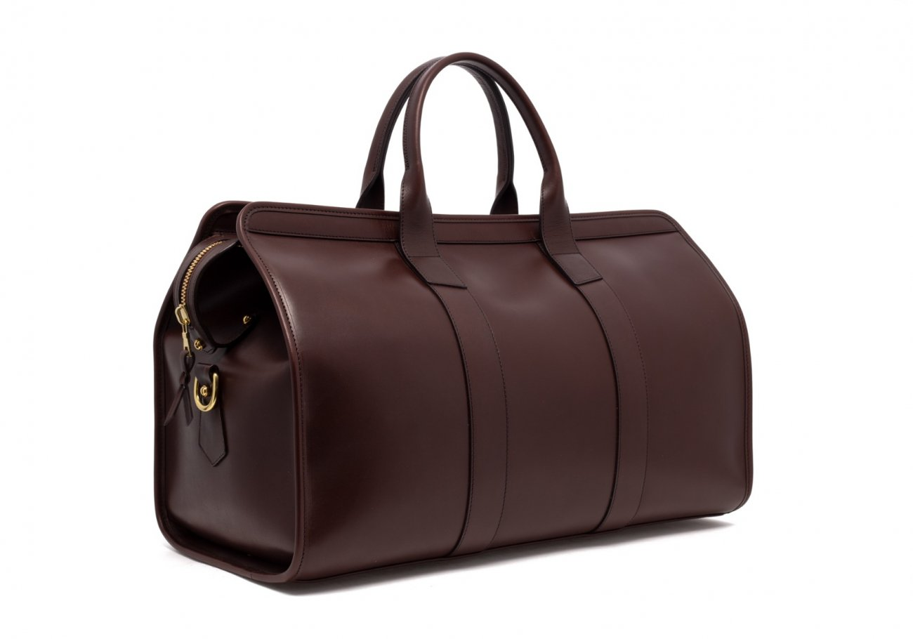 Leather Duffle Bag Harness Chocolate Leather 3 1