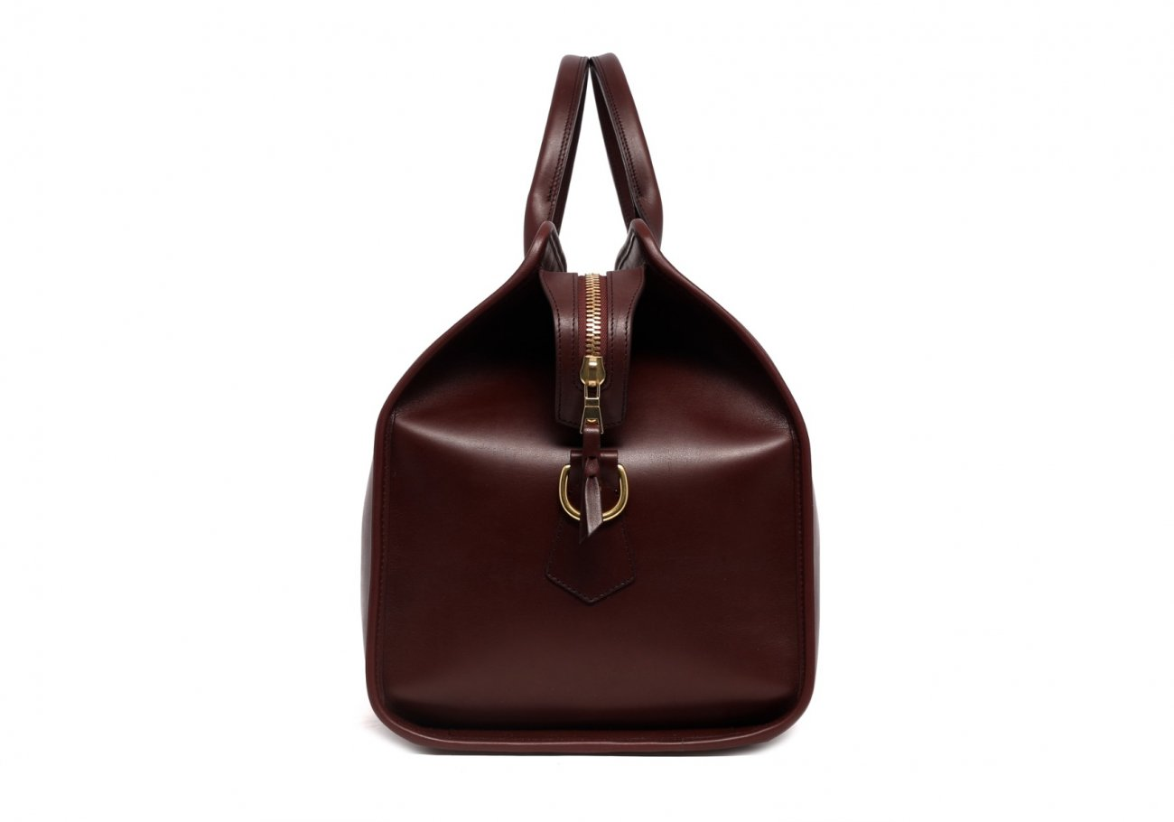 Leather Duffle Bag Harness Chocolate Leather 4 1
