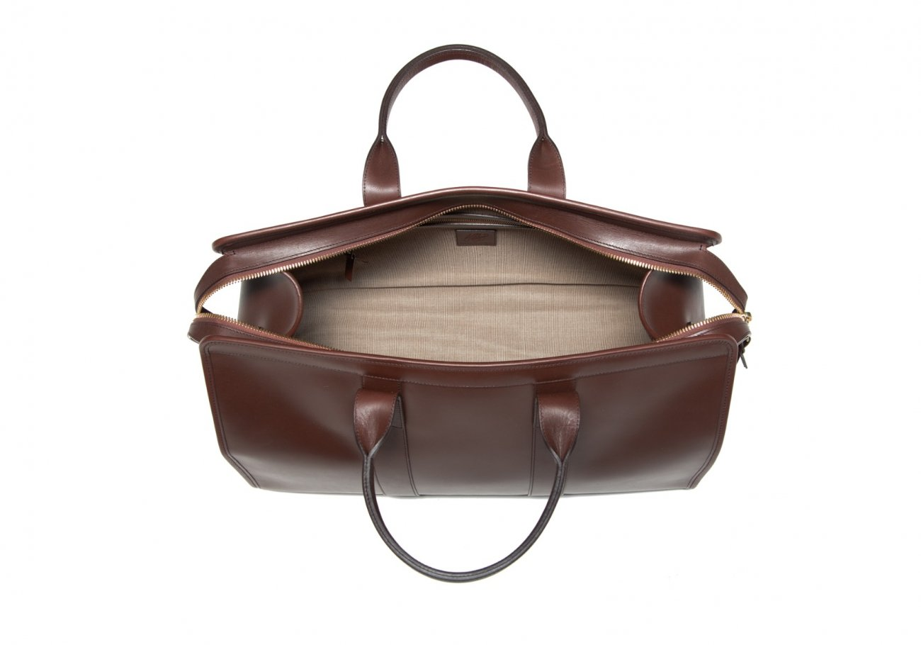 Leather Duffle Bag Harness Chocolate Leather 6 1