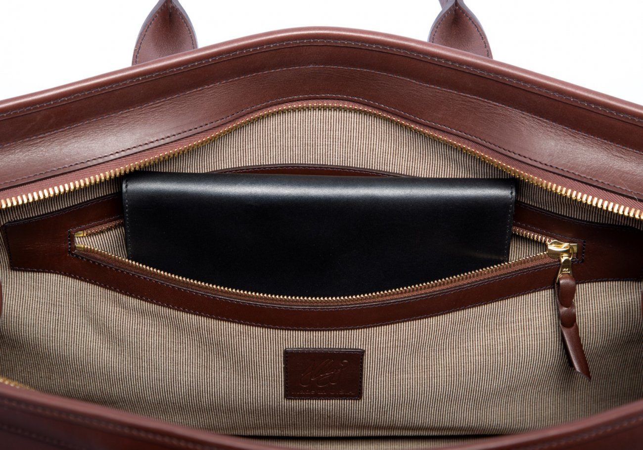 Leather Duffle Bag Harness Chocolate Leather 7 1