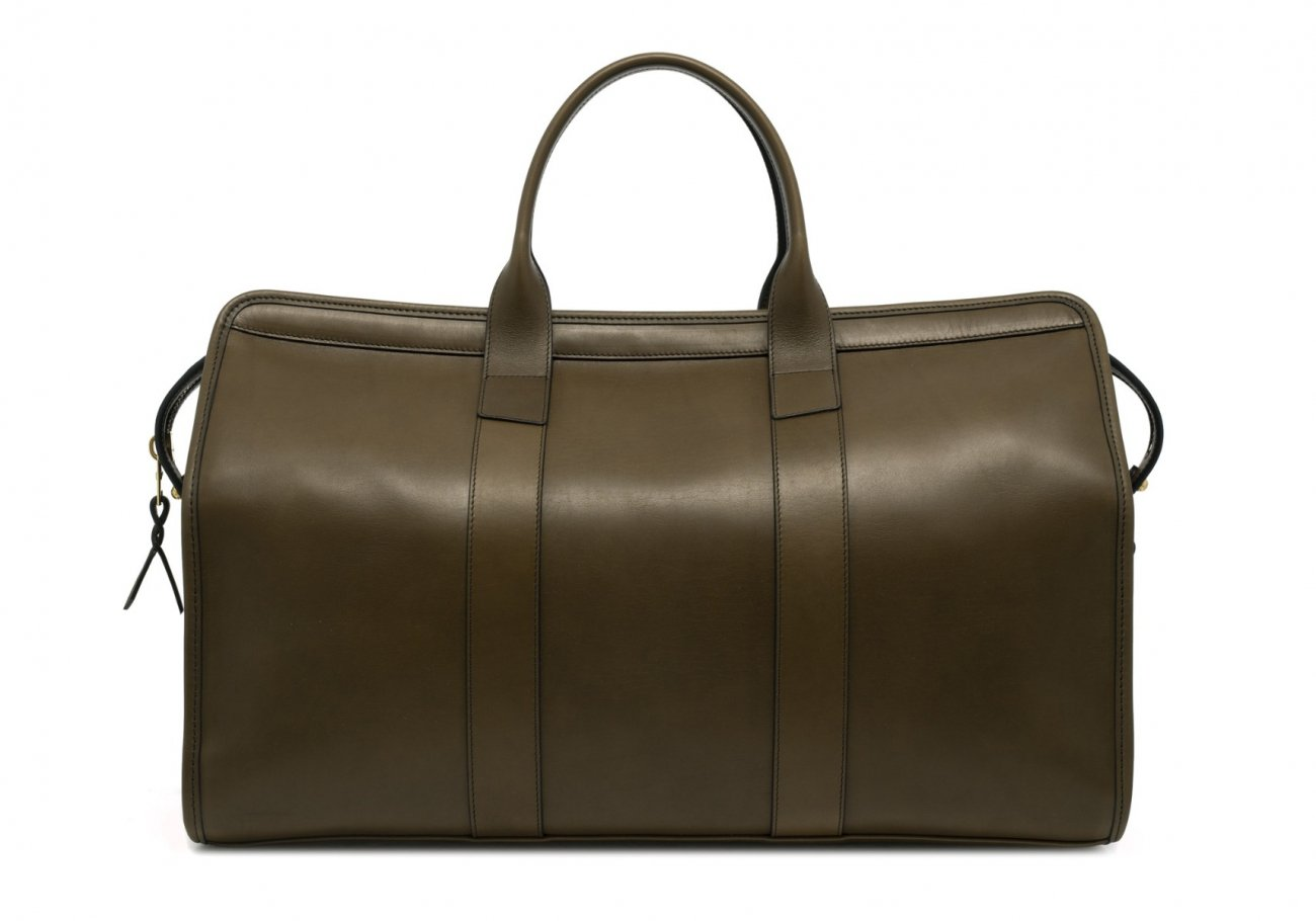 Leather Duffle Bag Harness Olive Leather 2