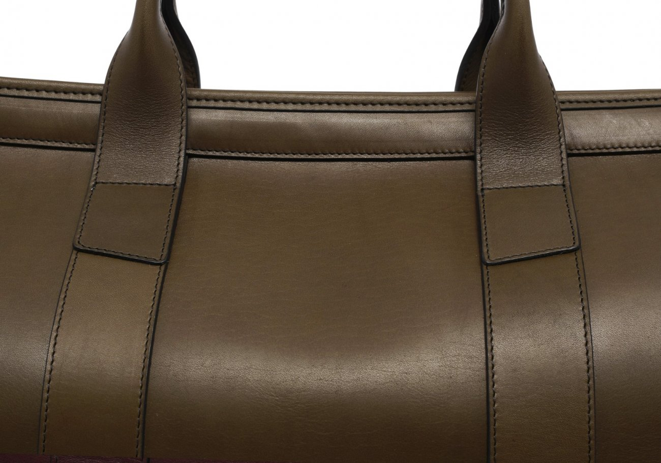 Leather Duffle Bag Harness Olive Leather 5