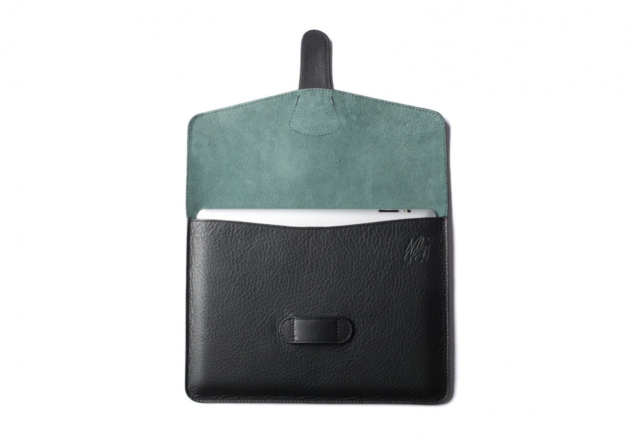 Leather Ipad Case Green 5 1