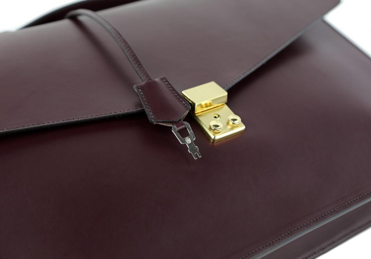 Leather Portfolio Briefcase Burgundy Frank Clegg 2