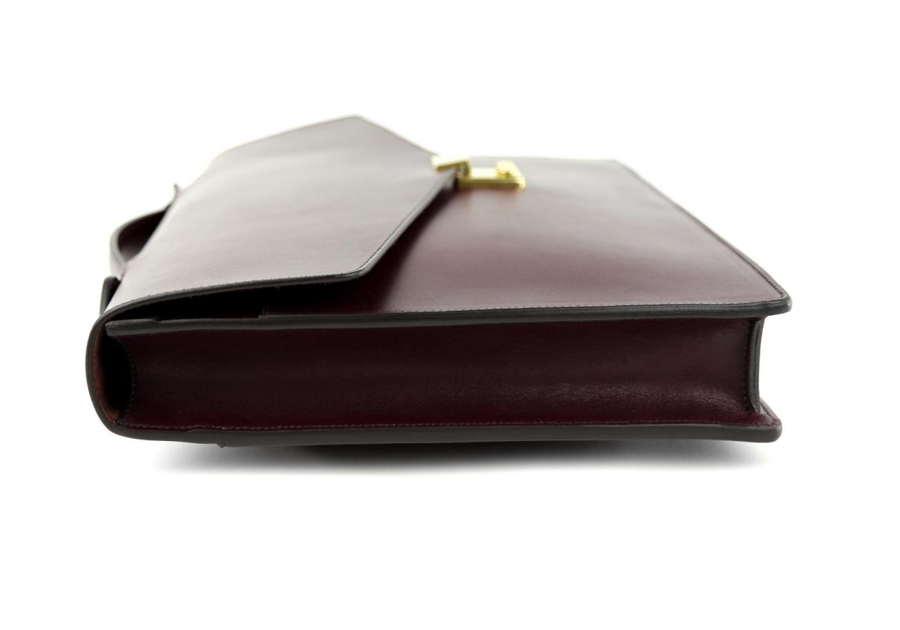 Leather Portfolio Briefcase Burgundy Frank Clegg 4