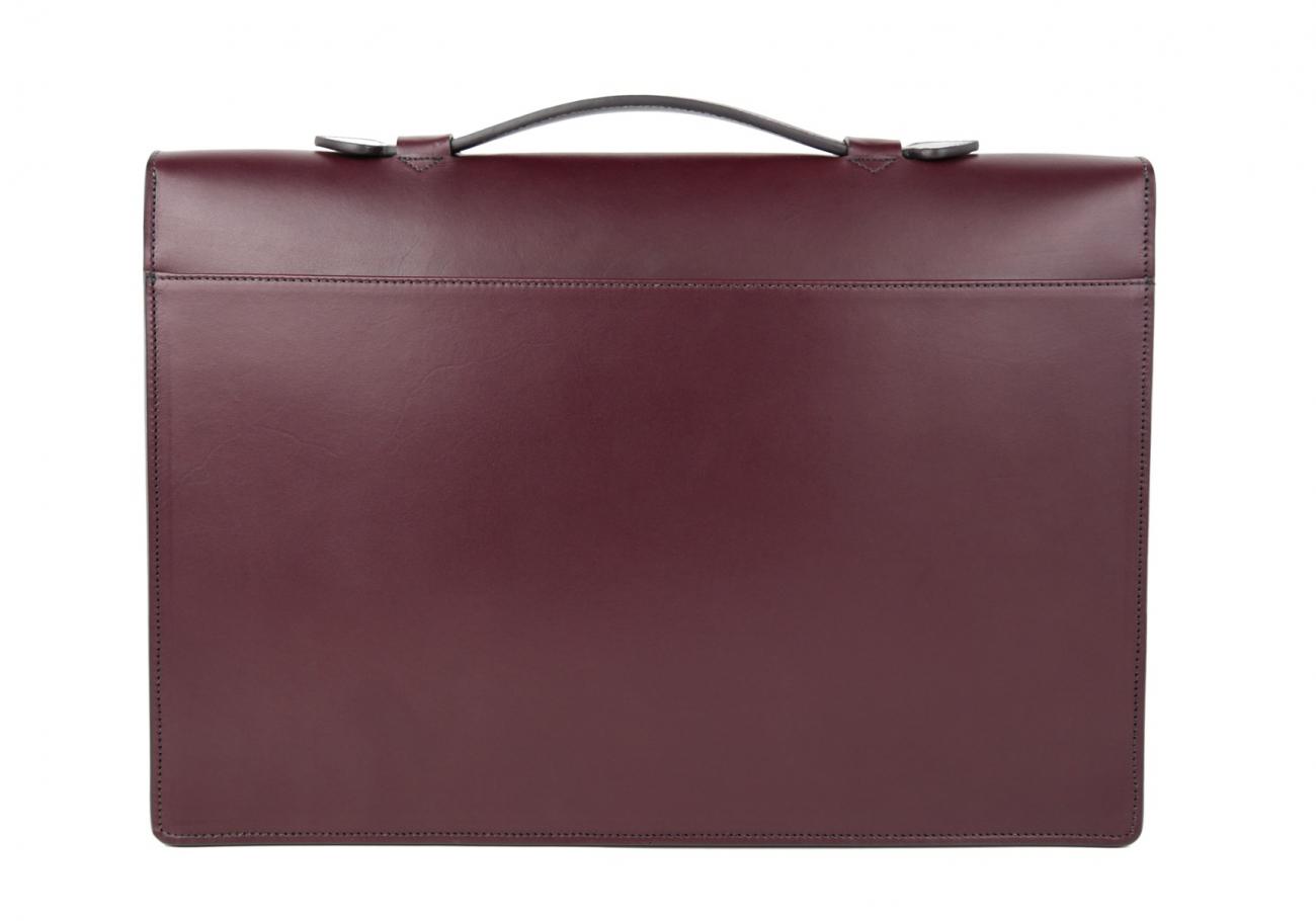 Leather Portfolio Briefcase Burgundy Frank Clegg 5
