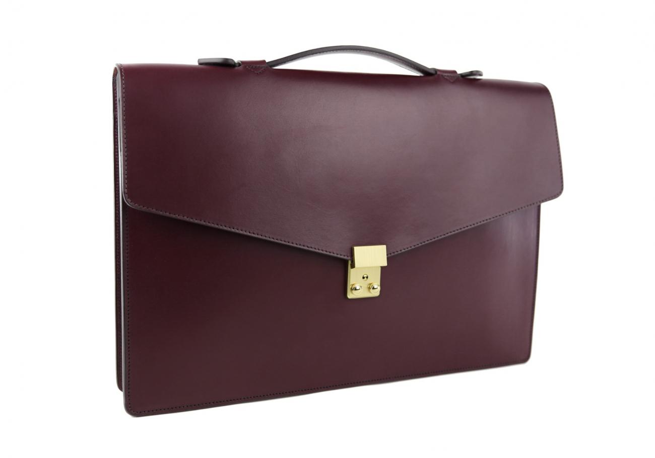 Leather Portfolio Briefcase Burgundy Frank Clegg 6