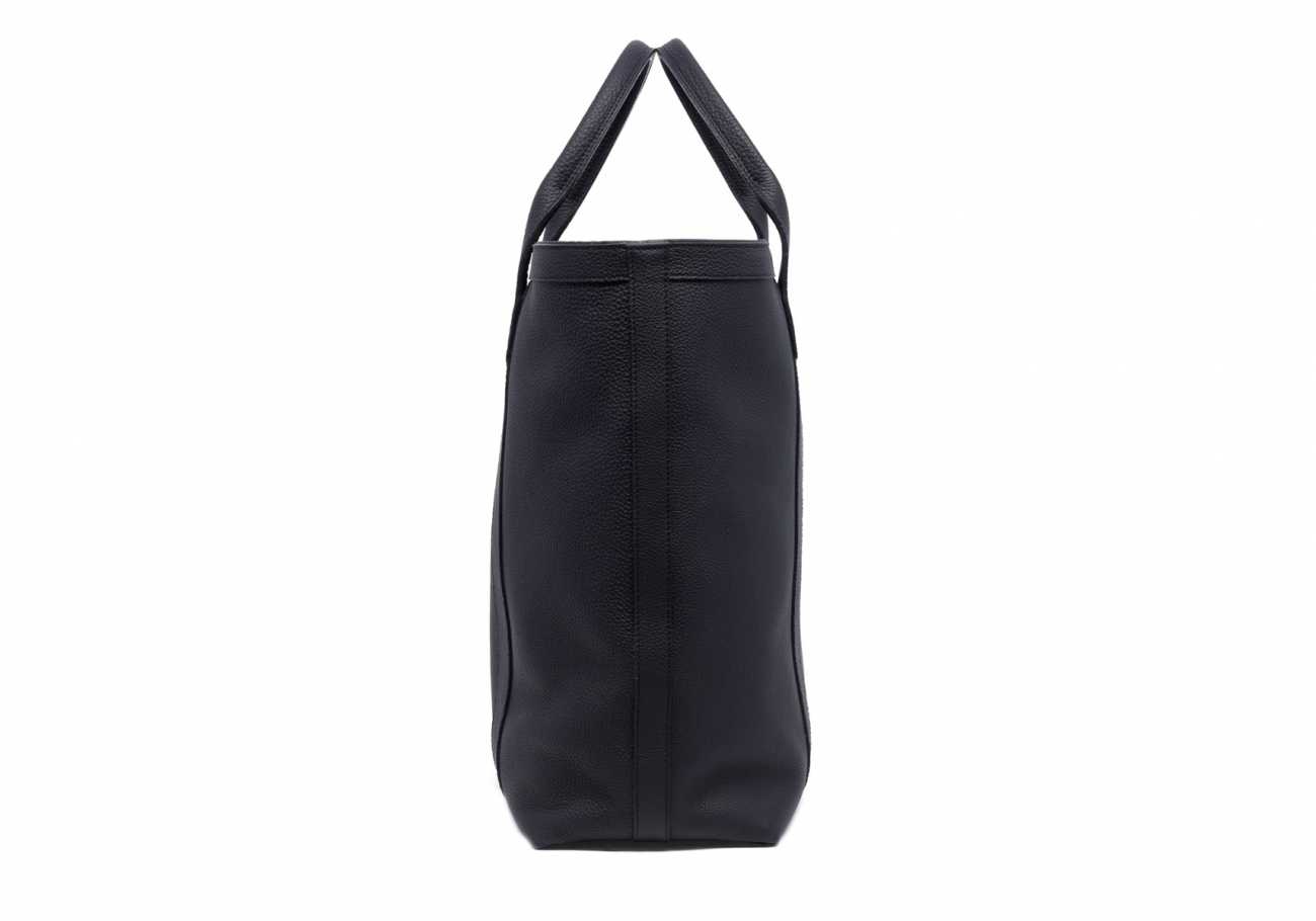 Leather Tall Tote Black Shrunken Calf Leather3