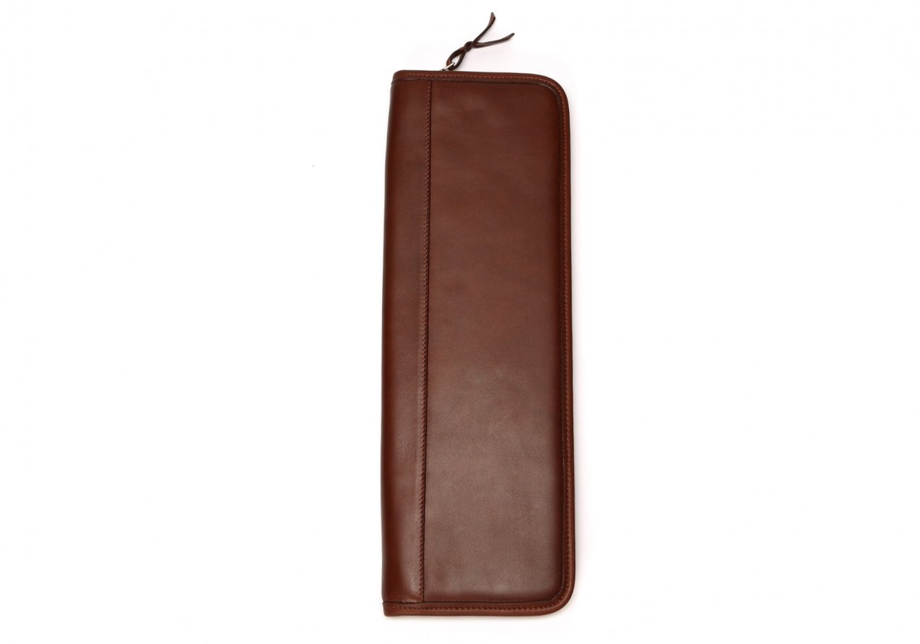 Leather Tie Case Chestnut Made In Usa Frank Clegg4