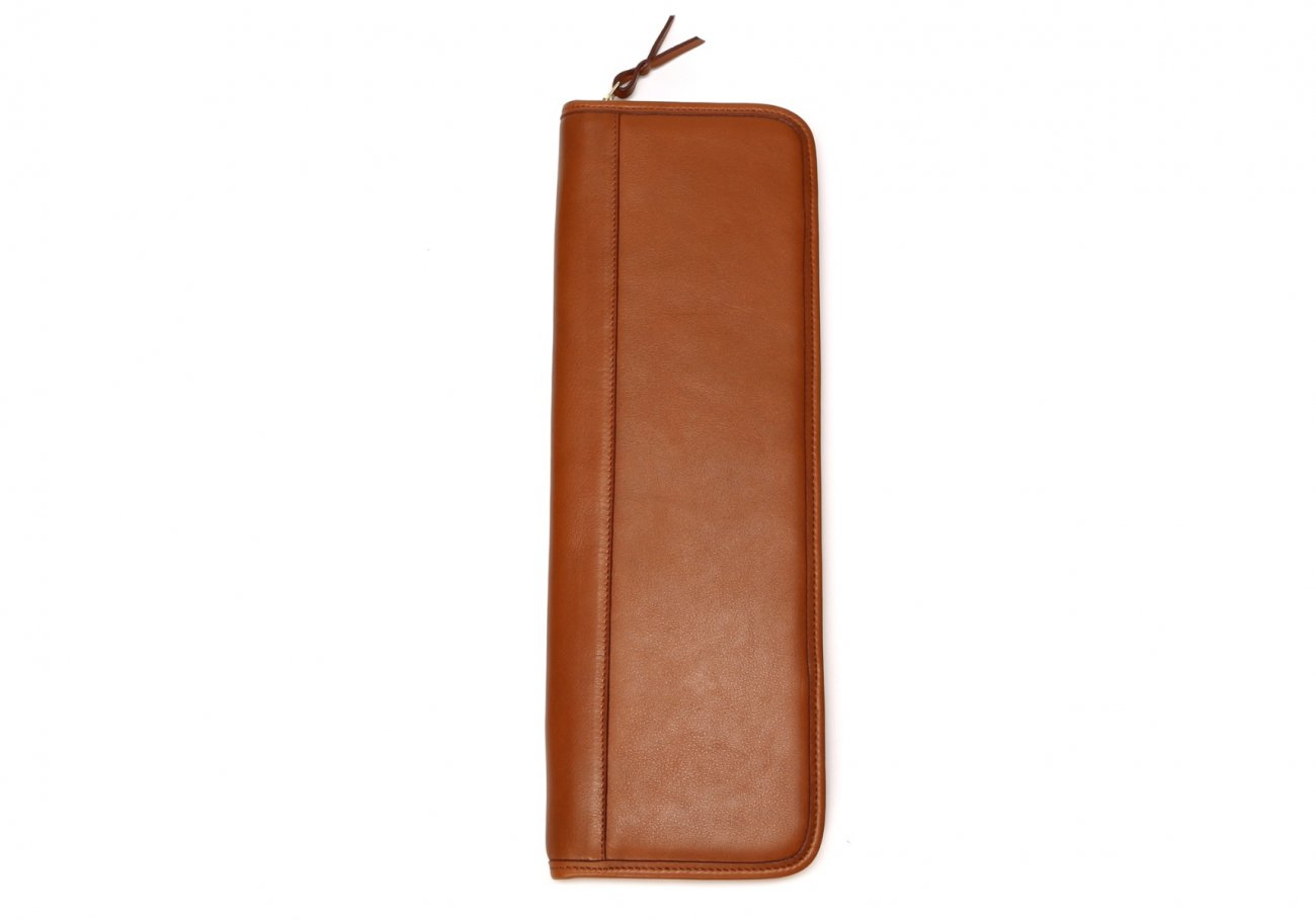 Leather Tie Case Cognac Made In Usa Frank Clegg1