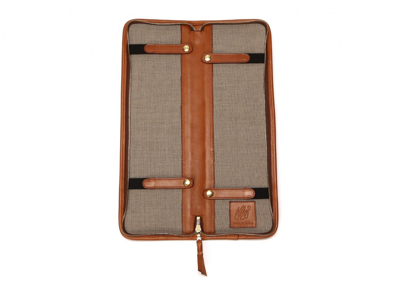 Leather Tie Case Cognac Made In Usa Frank Clegg2