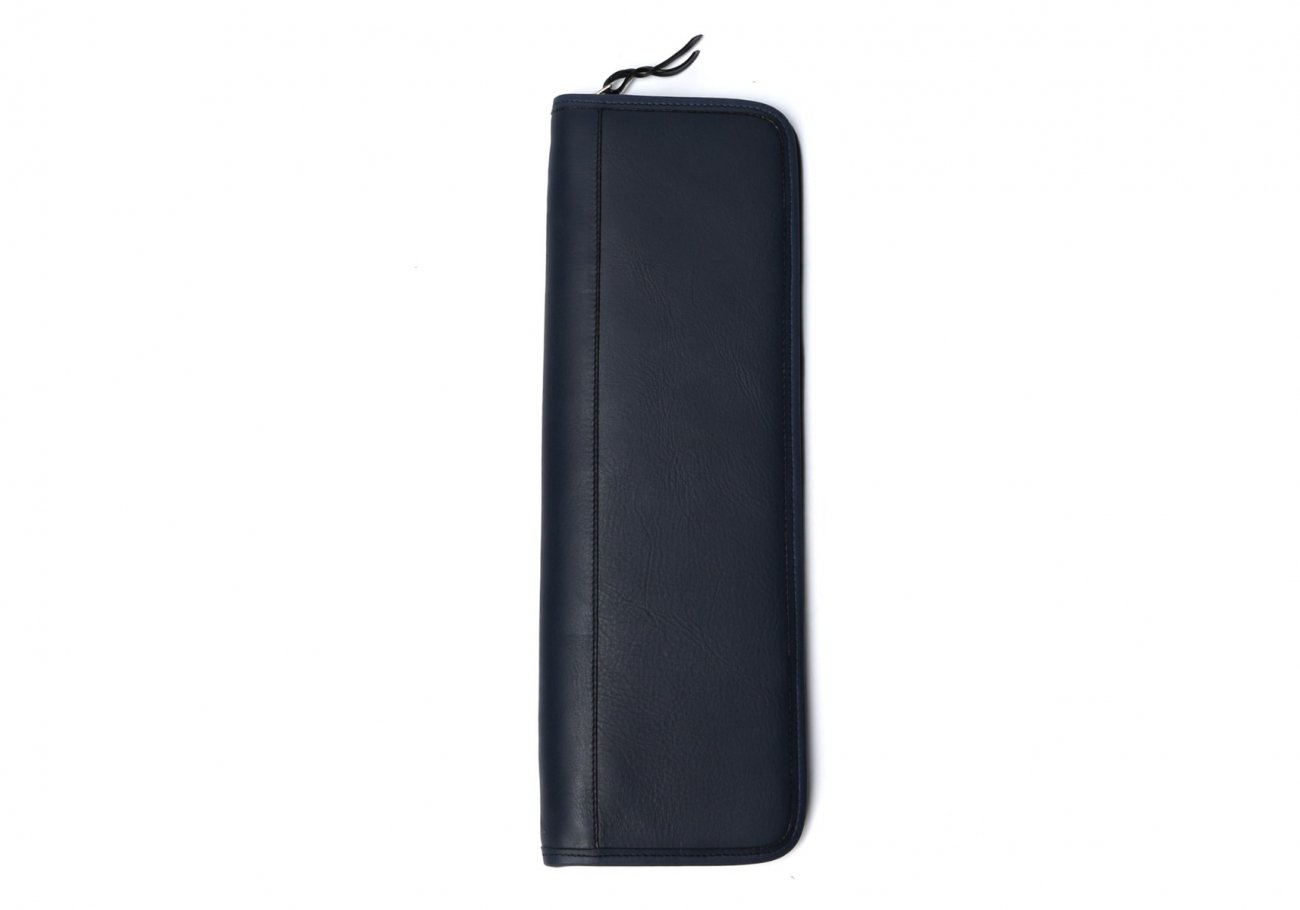 Leather Tie Case Navy Made In Usa Frank Clegg1