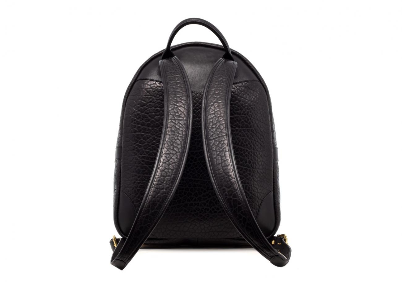 Leather Zipper Backpack Shrunken Black3 1