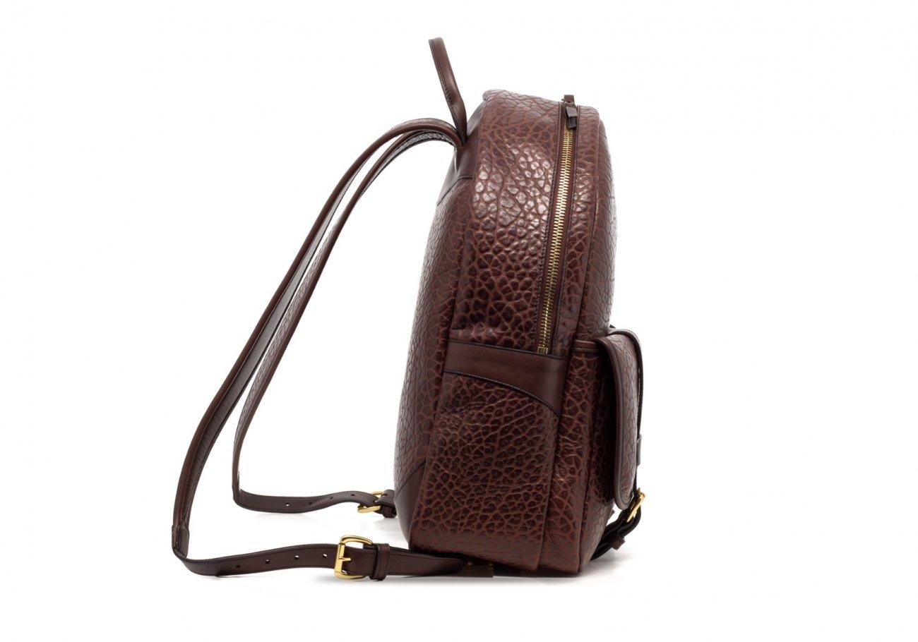 Leather Zipper Backpack Shrunken Chocolate4 1